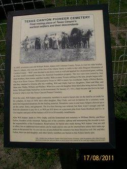 Texas Canyon Pioneer Cemetery