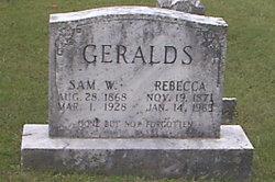 Rebecca <i>Pitcock</i> Geralds