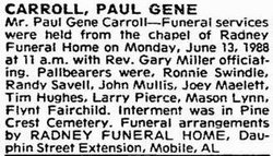 Paul Gene Carroll