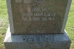 Julia <i>Watter</i> Gannon