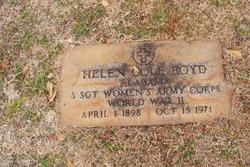 Sgt Helen Esabelle Elizabeth <i>Cole</i> Boyd