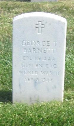 Corp George T Barnett