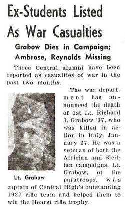 1Lt Richard J Grabow