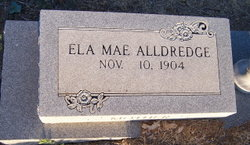 Ela Mae <i>Hodges</i> Alldredge