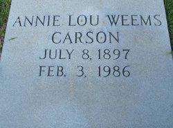 Annie Lou <i>Weems</i> Carson