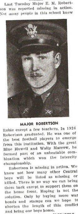 Maj Emanual M Robertson