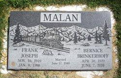 Bernice <i>Brinkerhoff</i> Malan