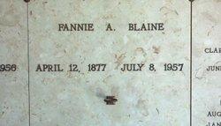Fannie A Blaine