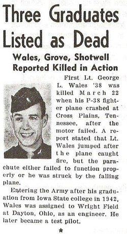Lieut George L Wales