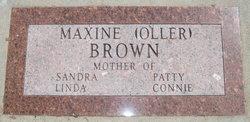 Maxine E. <i>Oller</i> Brown