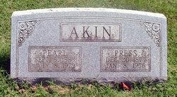 Hiram Preston Toliver Press Akin