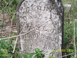 Infant Daughter Of <i>J.A. & L.J.</i> Blackburn