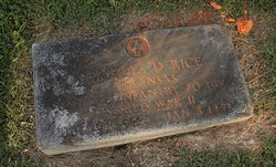 Sgt Charles David Rice