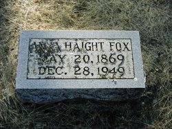Anna Eliza <i>Haight</i> Fox