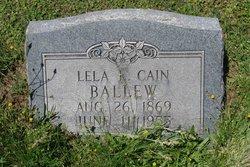 Lela L <i>Cain</i> Ballew
