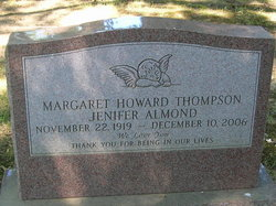 Margaret Howard <i>Thompson</i> Almond Jenifer
