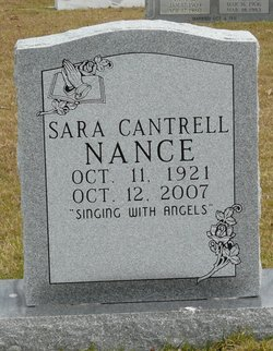 Sara <i>Cantrell</i> Nance