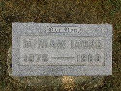 Miriam Evelyn Mame <i>Stites</i> Irons