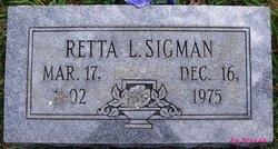 Loretta Lee Retta <i>Lovan</i> Sigman