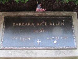 Barbara Bobo <i>Rice</i> Allen