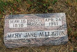 Mary Jane <i>Coleman</i> Allington
