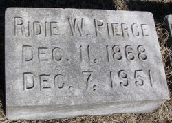 Mariah Beverly Ridie <i>Watkins</i> Pierce