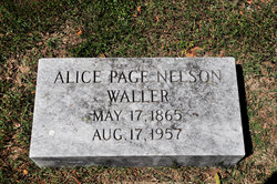 Alice Page <i>Nelson</i> Waller