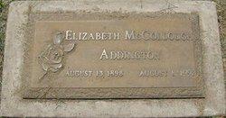 Elizabeth <i>McCollough</i> Addington