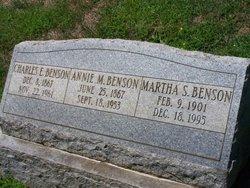 Annie M <i>Marlow</i> Benson