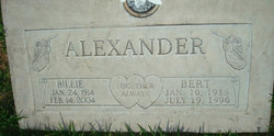 Willie Lee Billie <i>Harris</i> Alexander