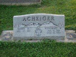 Harry Achziger