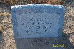 Mattie Bee <i>McCutchan</i> Adams