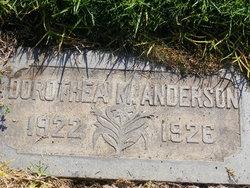 Dorothea M Anderson