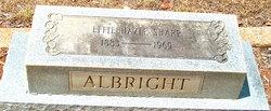 Effie Hazle <i>Sharp</i> Albright