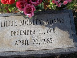 Lillie Mobley Adams