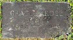 Grace Nellie <i>Pardee</i> Ackley