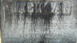 Allica E <i>Merriam</i> Jackman