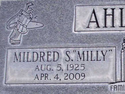 Mildred S Milly Ahlstrom