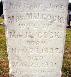Mrs Mary Jane <i>Shumate</i> Cock