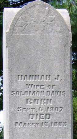 Hannah Jane <i>Rodgers</i> Davis