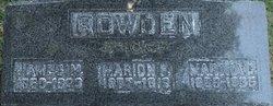 Martha Catherine <i>Mayfield</i> Rowden