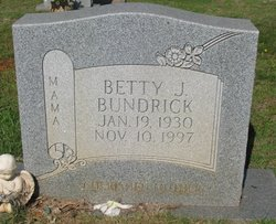 Betty J <i>Blease</i> Bundrick