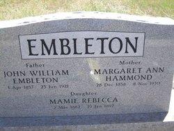 Margaret <i>Hammond</i> Embleton