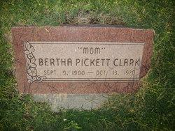 Bertha Elizabeth Berthie <i>Pickett</i> Clark