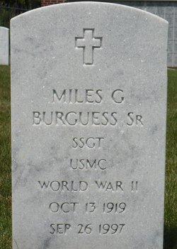Miles G Burguess, Sr