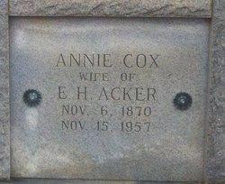 Annie <i>Cox</i> Acker