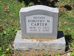 Dorothy M <i>Robertson</i> Carter