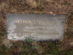 Arthur F Boswell