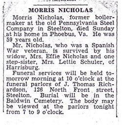 Morris B Nicholas