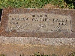 Bertha <i>Warner</i> Halen